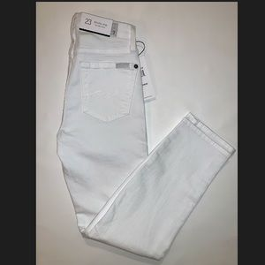 7 for All Mankind Women's Kimmie Crop NWT White